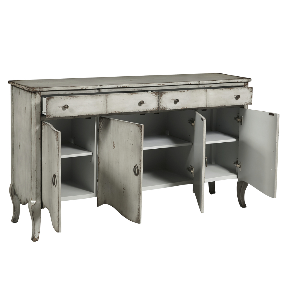 Accentrics Home - Four Door Grey Credenza