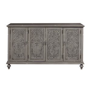 Thumbnail of Accentrics Home - Gray Tin Front Four Door Credenza