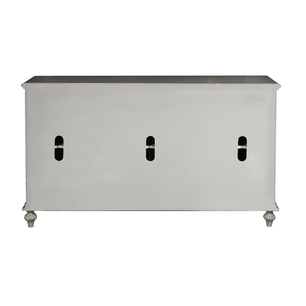 Accentrics Home - Gray Tin Front Four Door Credenza