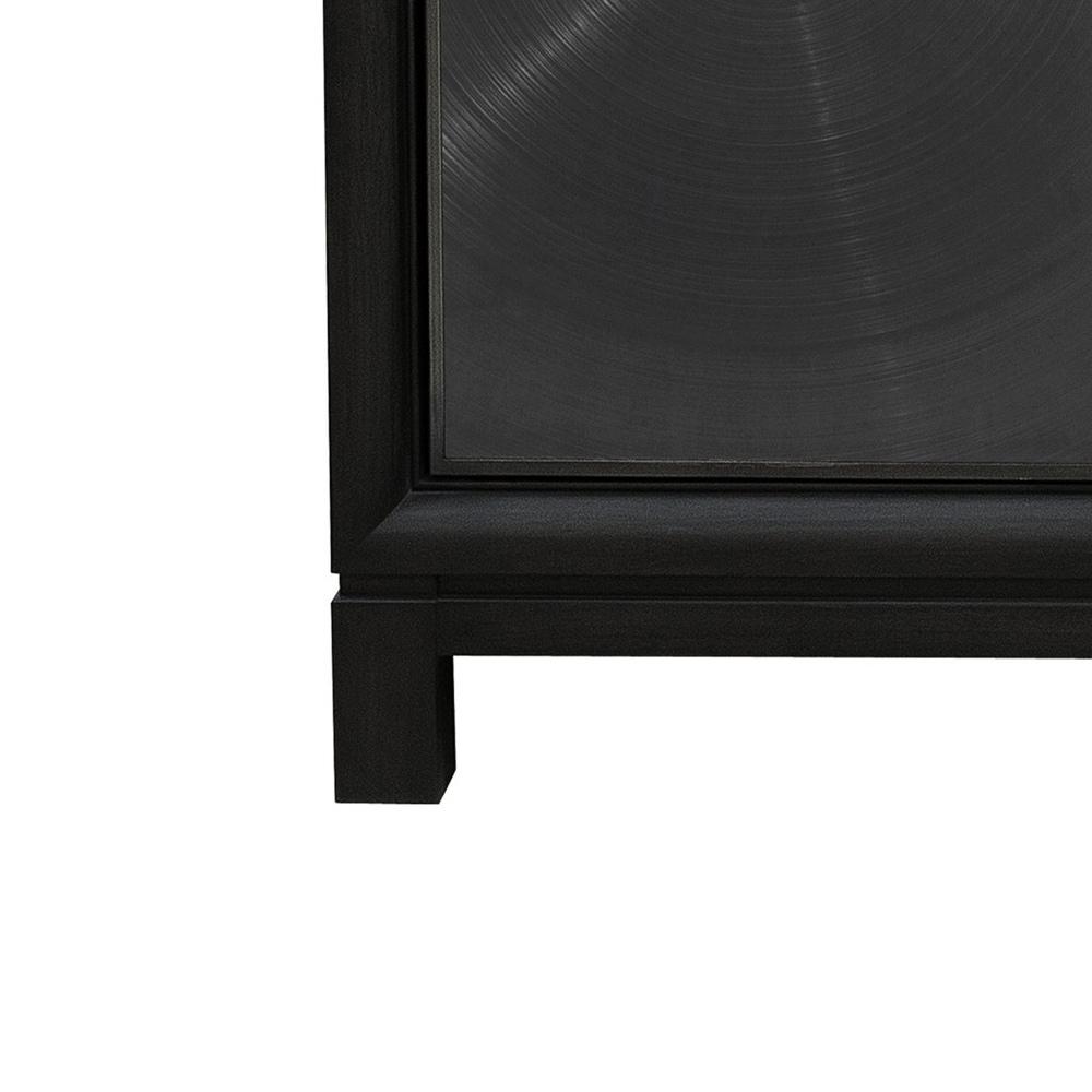 Accentrics Home - Four Door Spun Metal Credenza