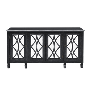 Thumbnail of Accentrics Home - Black Four Door Mirrored Console