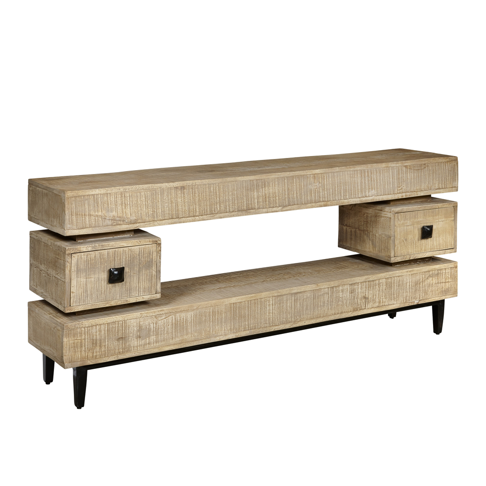 Accentrics Home - Rustic Two Drawer Console