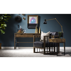 Thumbnail of ACCENTRICS BY PULASKI - Black Leather and Wood Spindle Frame Chair