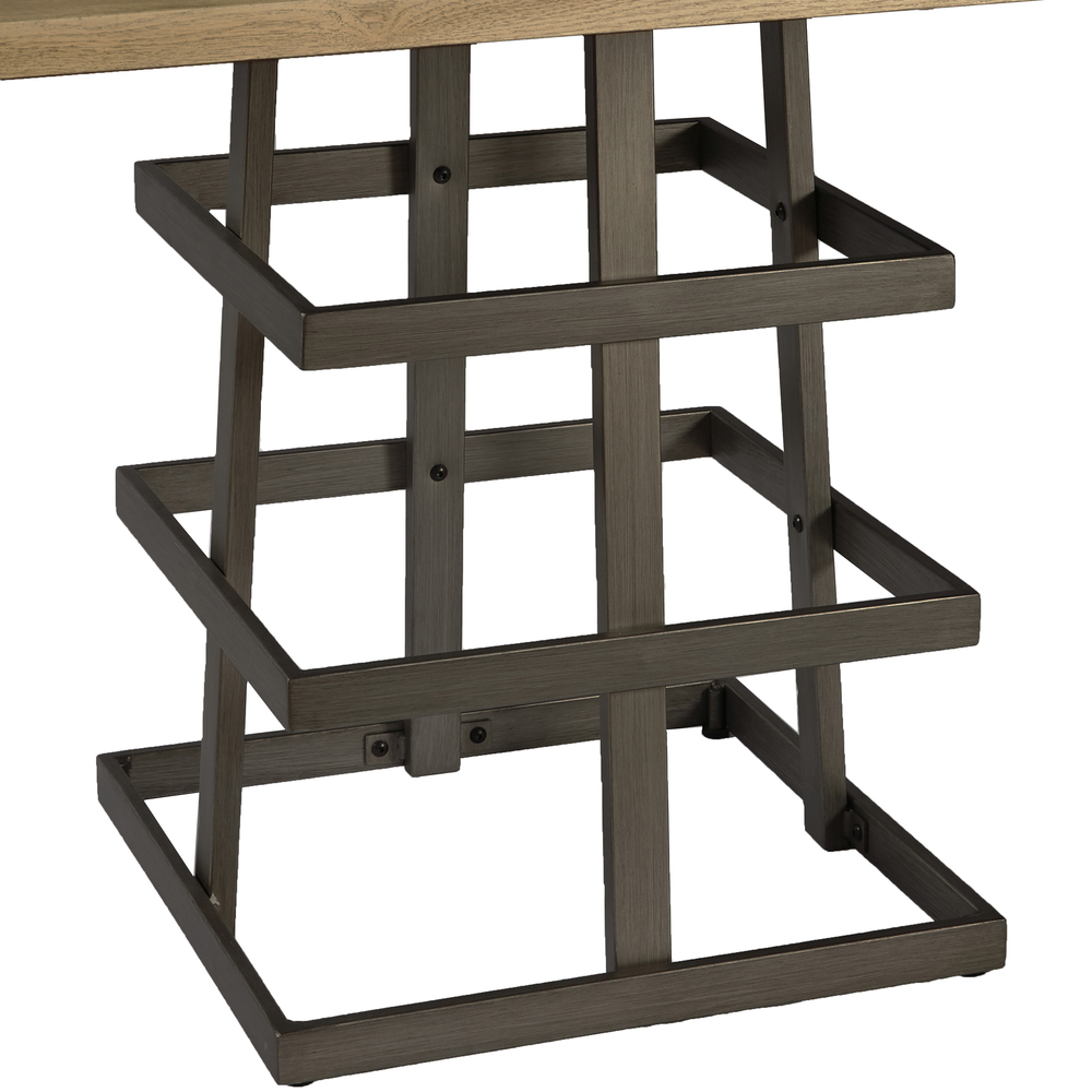 Accentrics Home - Square Metal Strap Dining Table