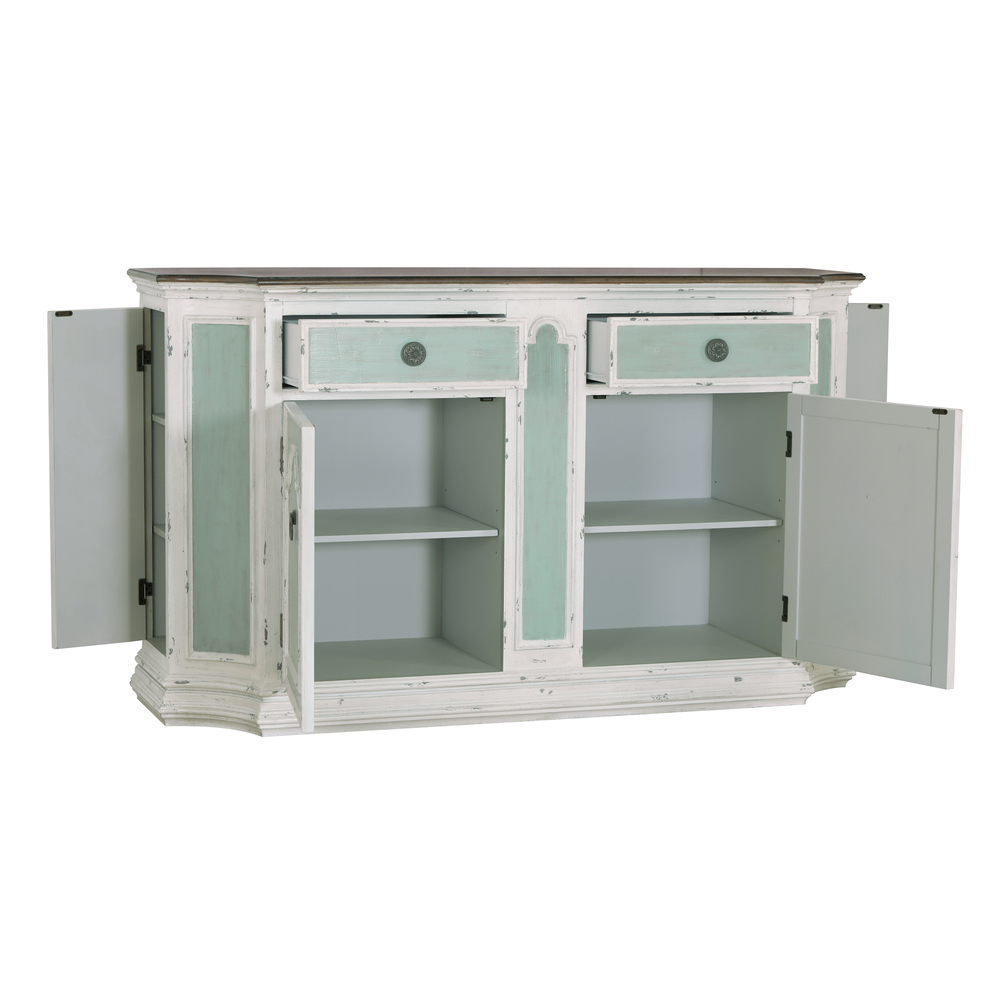 Accentrics Home - Four Door Tri-Tone Console