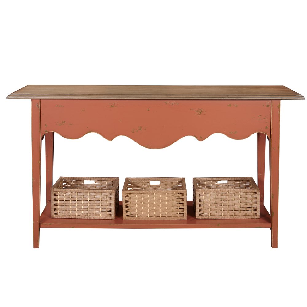 Accentrics Home - Clay and Oak Console