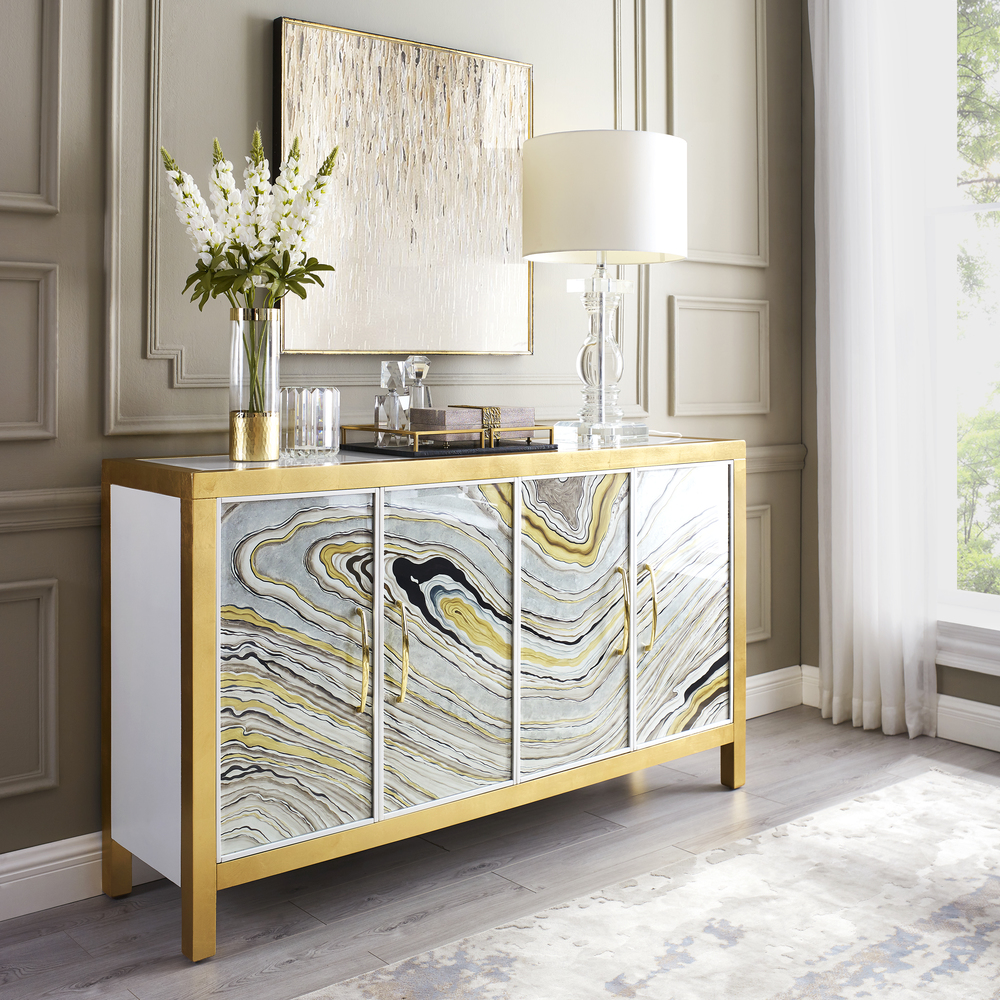 Accentrics Home - Four Door Agate Console