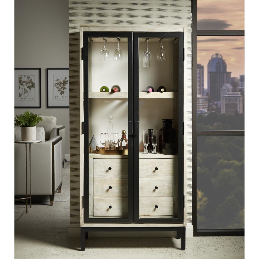 Accentrics Home - Metal Door Bar Cabinet