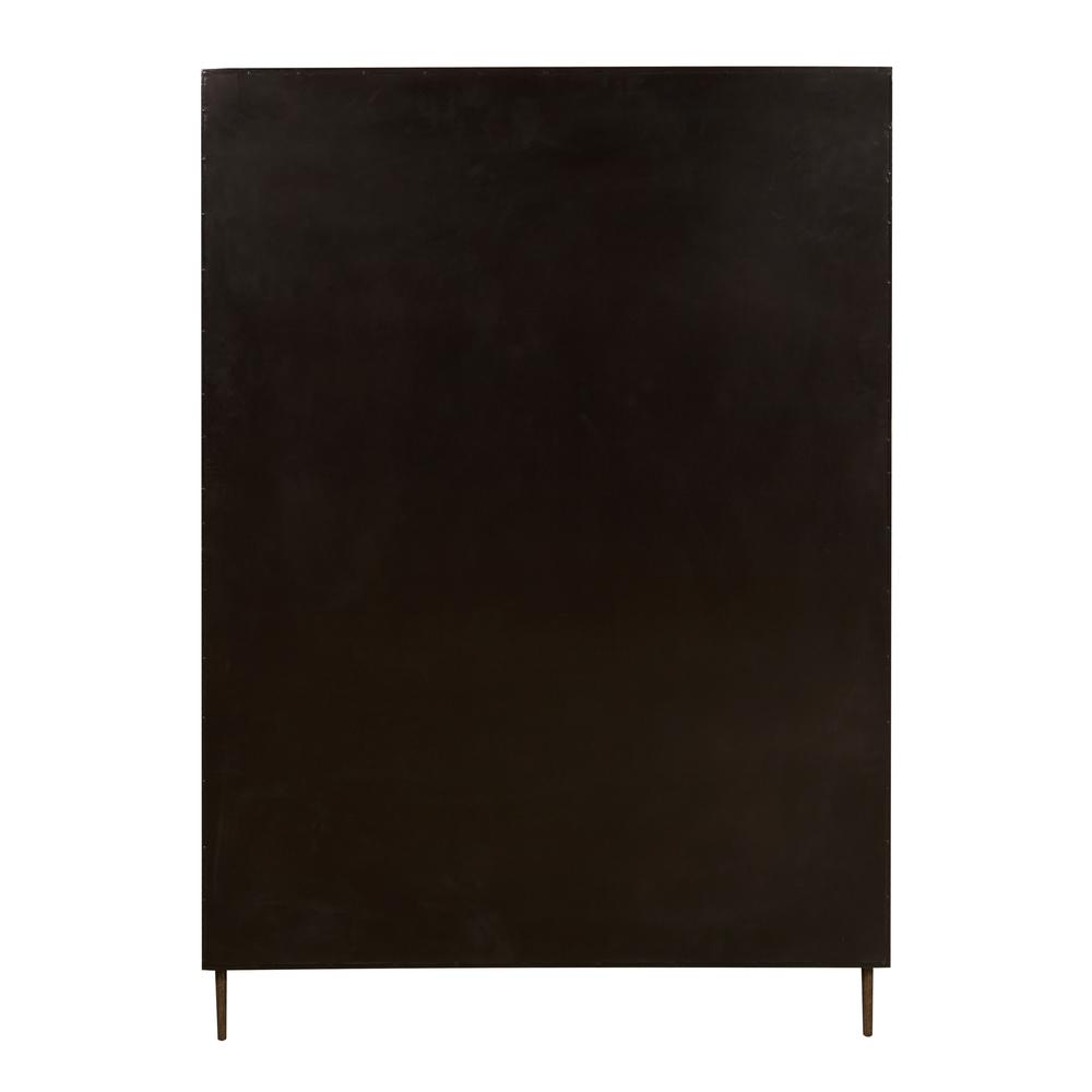 Accentrics Home - Patina Metal Bar Cabinet