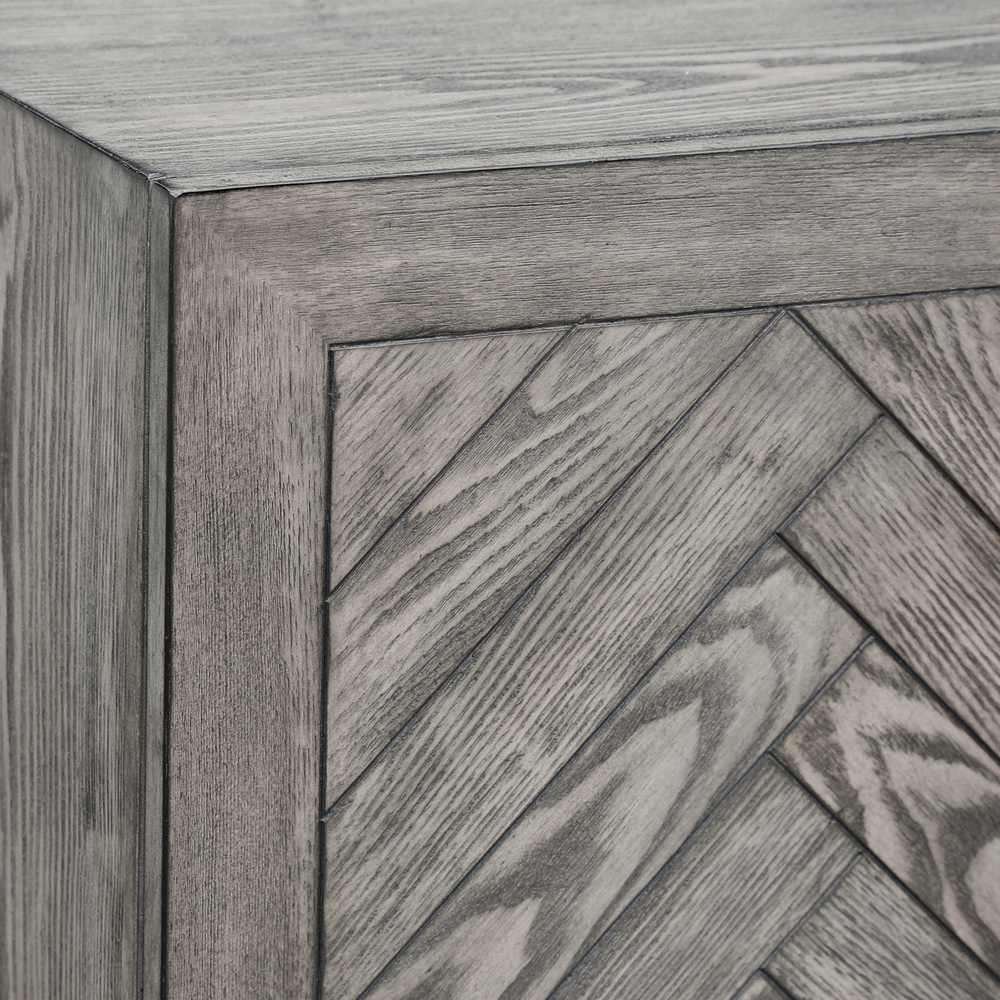 Accentrics Home - Four Door Chevron Console