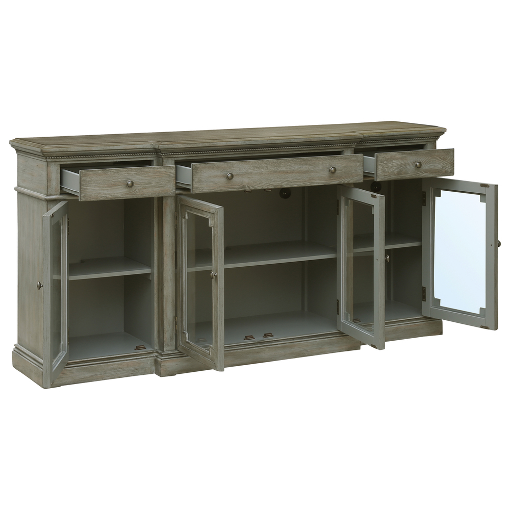Accentrics Home - Three Drawer Four Door Console