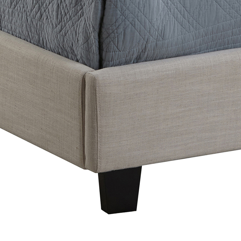 Accentrics Home - Queen All-in-One Fully Upholstered Bed