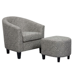 Thumbnail of Accentrics Home - Barrel Chair and Ottoman
