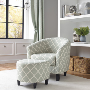 Thumbnail of Accentrics Home - Barrel Accent Chair and Ottoman