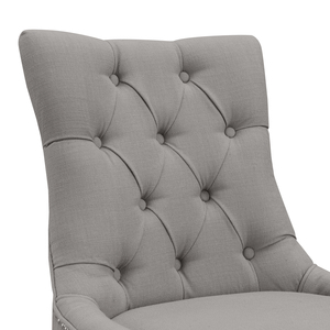 Thumbnail of Accentrics Home - Grey Button Tufted Dining Chair