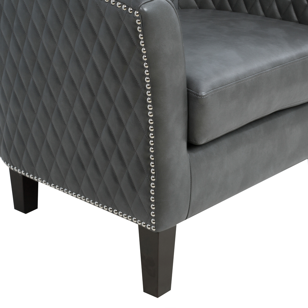 Accentrics Home - Quilted Barrel Accent Chair