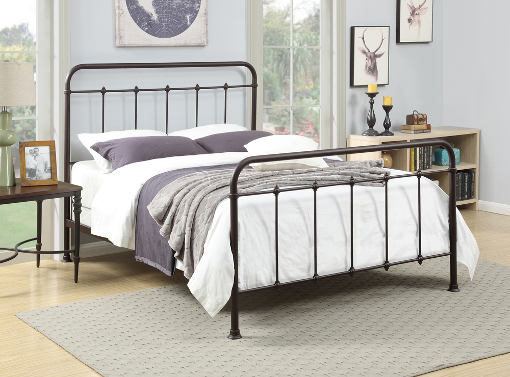 Accentrics Home - Queen All-in-One Curve Metal Bed