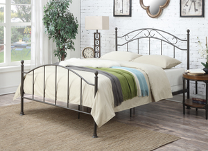 Thumbnail of Accentrics Home - Queen All-in-One Scroll Metal Bed