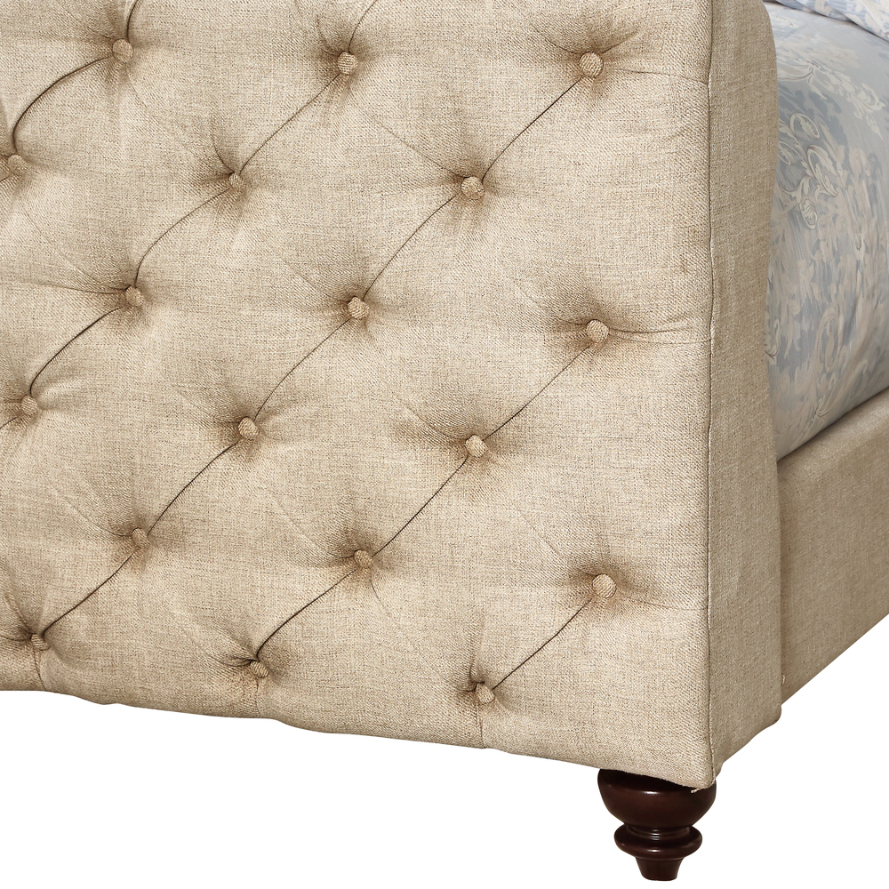 Accentrics Home - Queen Button Tufted Upholstered Headboard