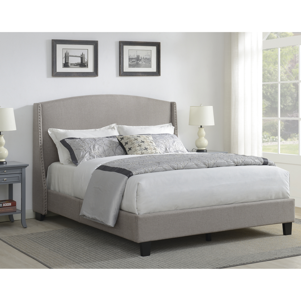 Accentrics Home - Queen All-in-One Upholstered Bed
