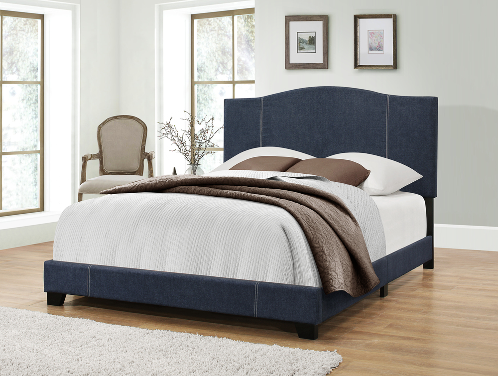 Accentrics Home - Queen All-in-One Stitched Camel Back Bed