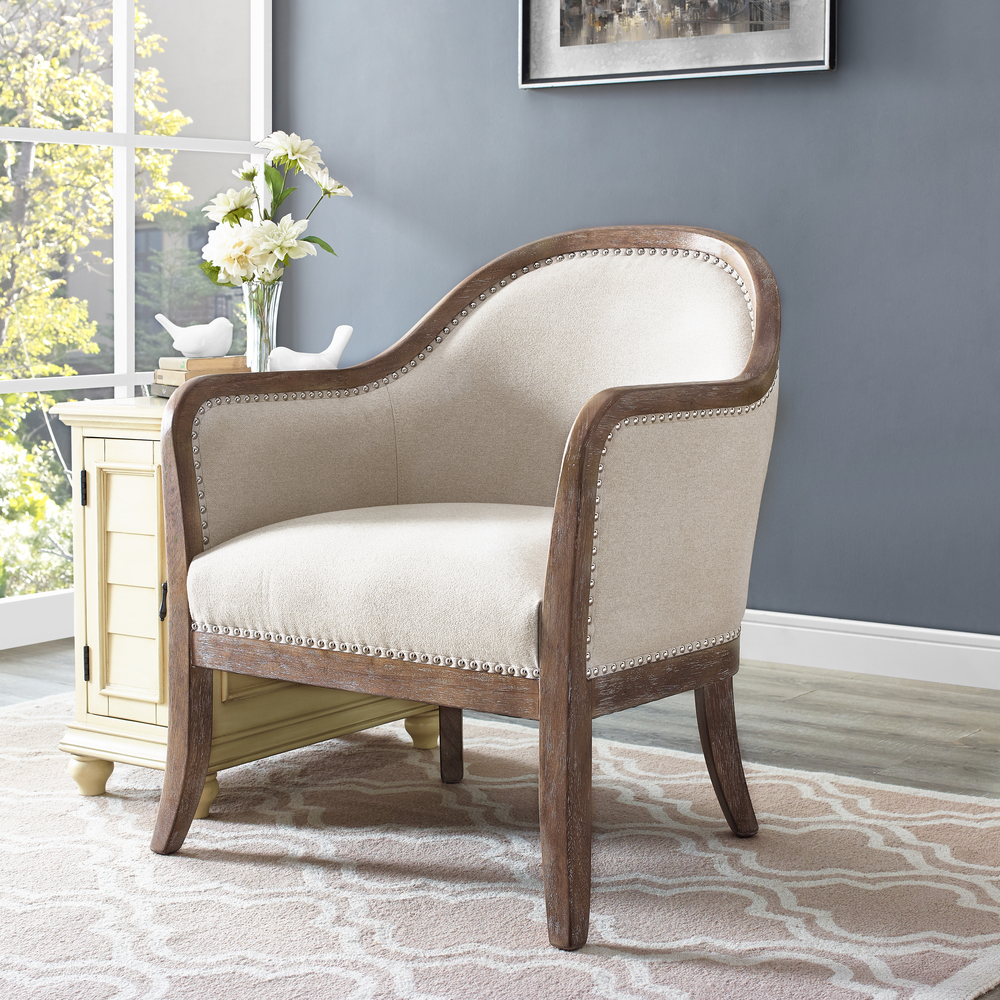 Accentrics Home - Wood Frame Accent Arm Chair