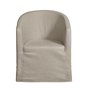 Thumbnail of Accentrics Home - Slipcover Barrel Back Chair with Casters