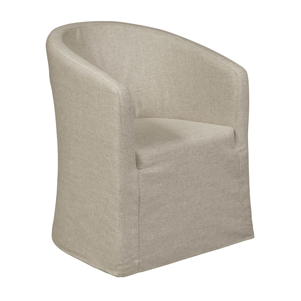 Accentrics Home - Slipcover Barrel Back Chair with Casters