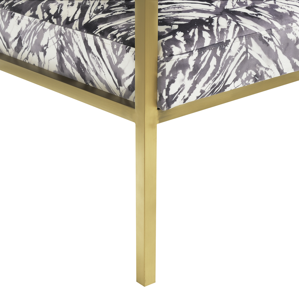 Accentrics Home - Gold Frame Accent Chair