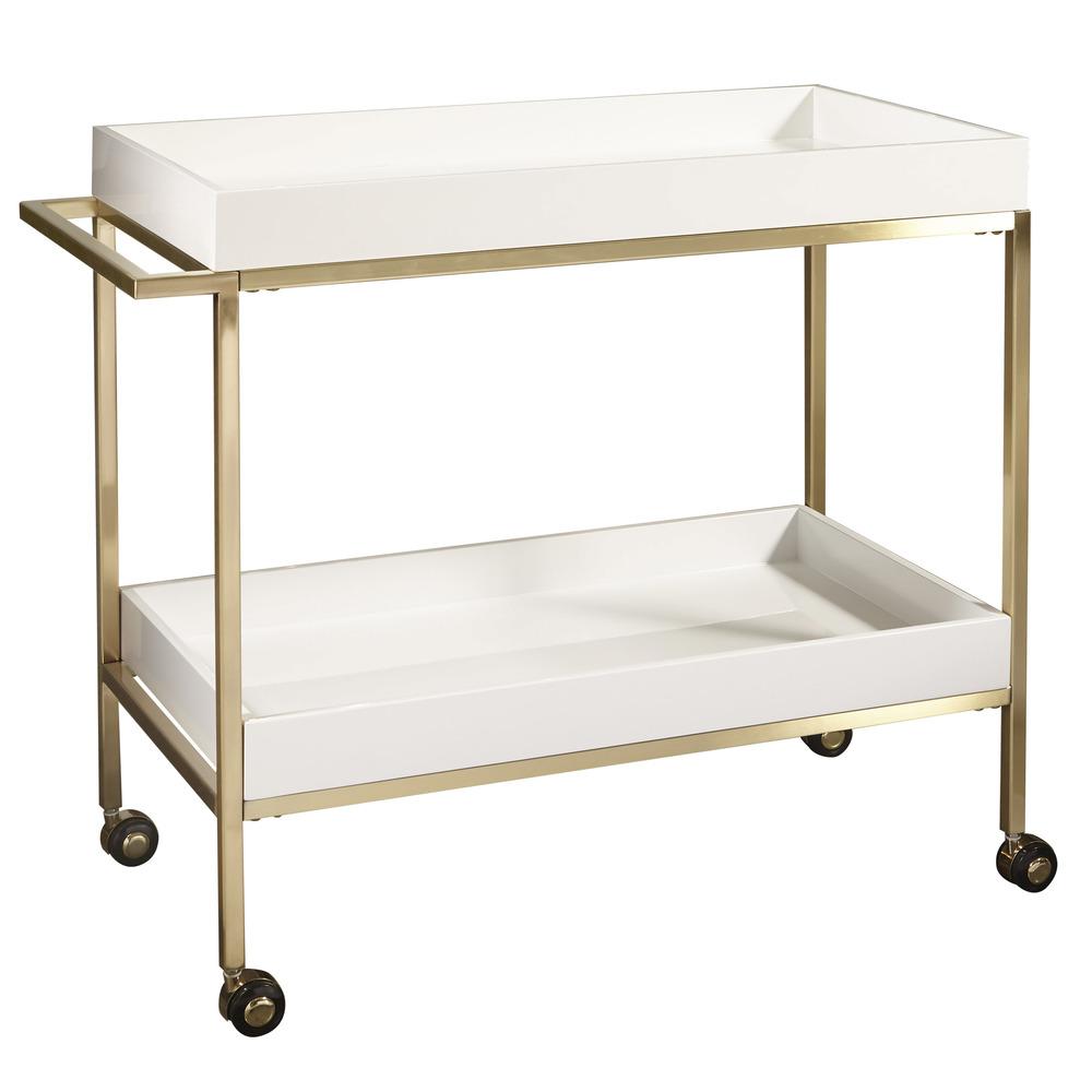 Accentrics Home - Brushed Bar Cart