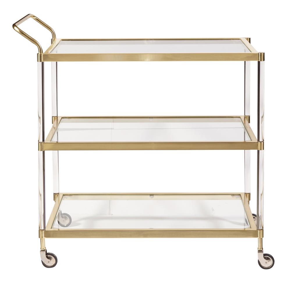 Accentrics Home - Brushed Gold Bar Cart
