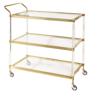 Thumbnail of Accentrics Home - Brushed Gold Bar Cart