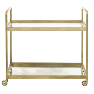 Thumbnail of Accentrics Home - Brushed Gold and Glass Bar Cart