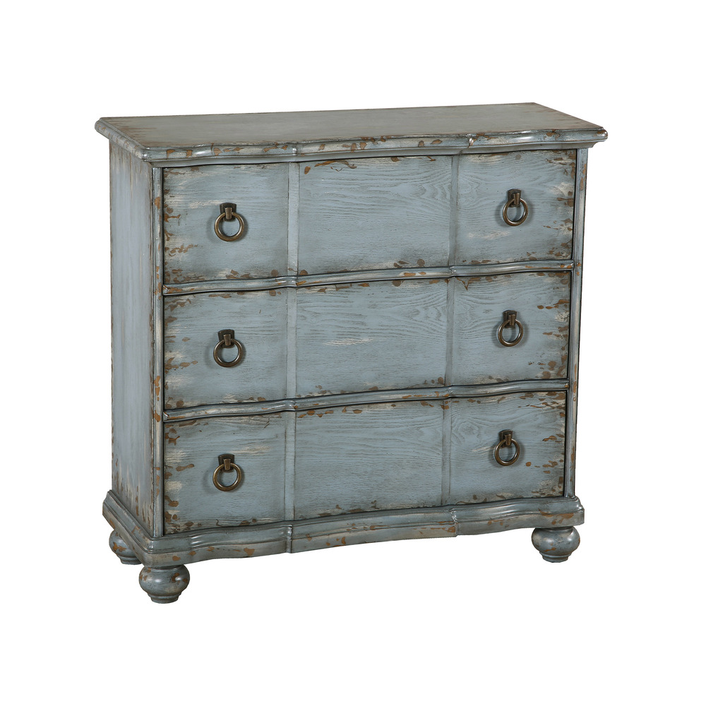 Accentrics Home - Distressed Blue Farmhouse Chest