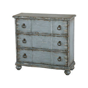 Thumbnail of Accentrics Home - Distressed Blue Farmhouse Chest