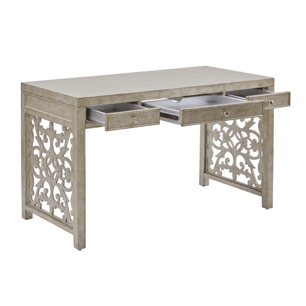 Accentrics Home - Silver Three Drawer Desk