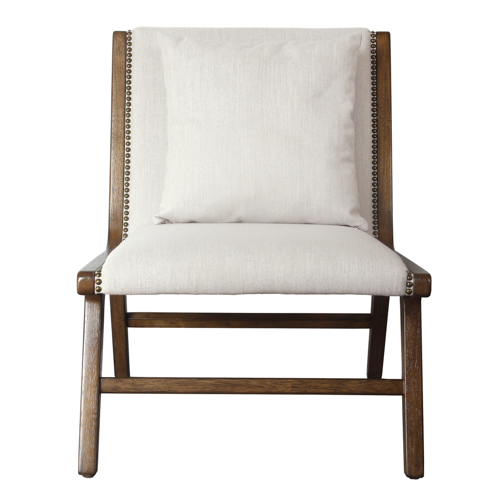 Accentrics Home - Wood Frame Lounge Chair
