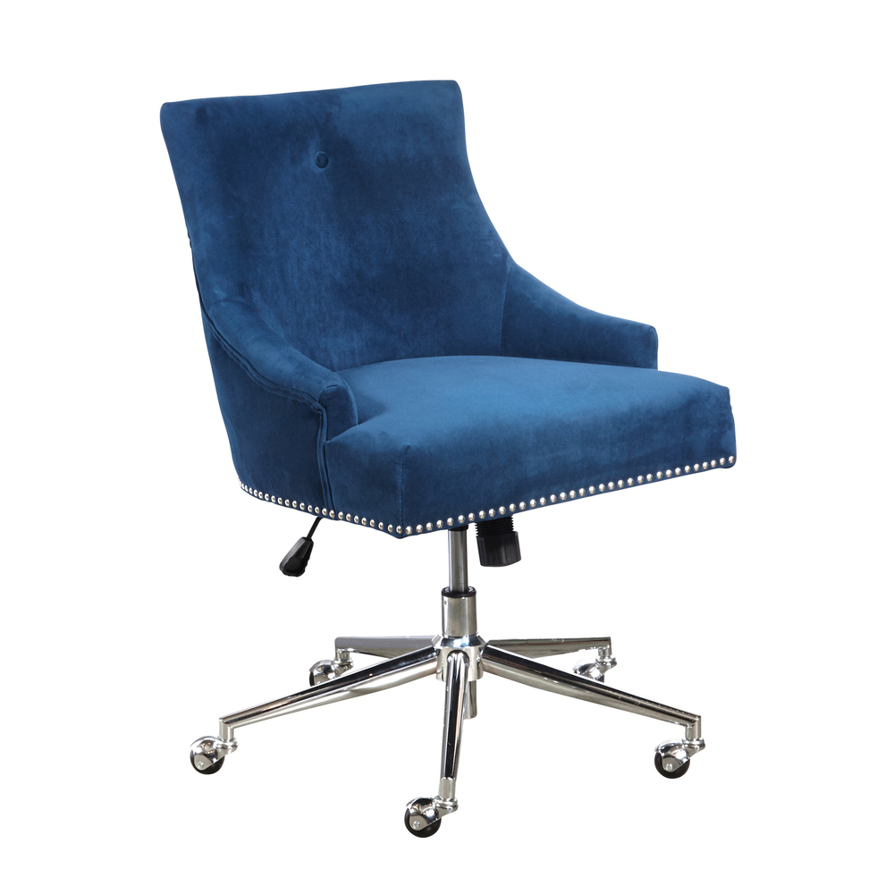 Accentrics Home - Navy Button Back Home Office Chair