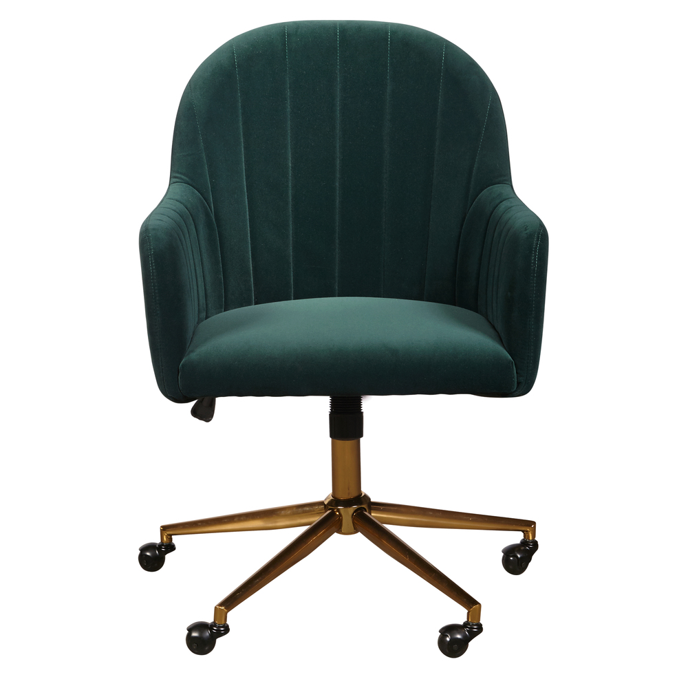 Accentrics Home - Emerald Channeled Back Office Chair