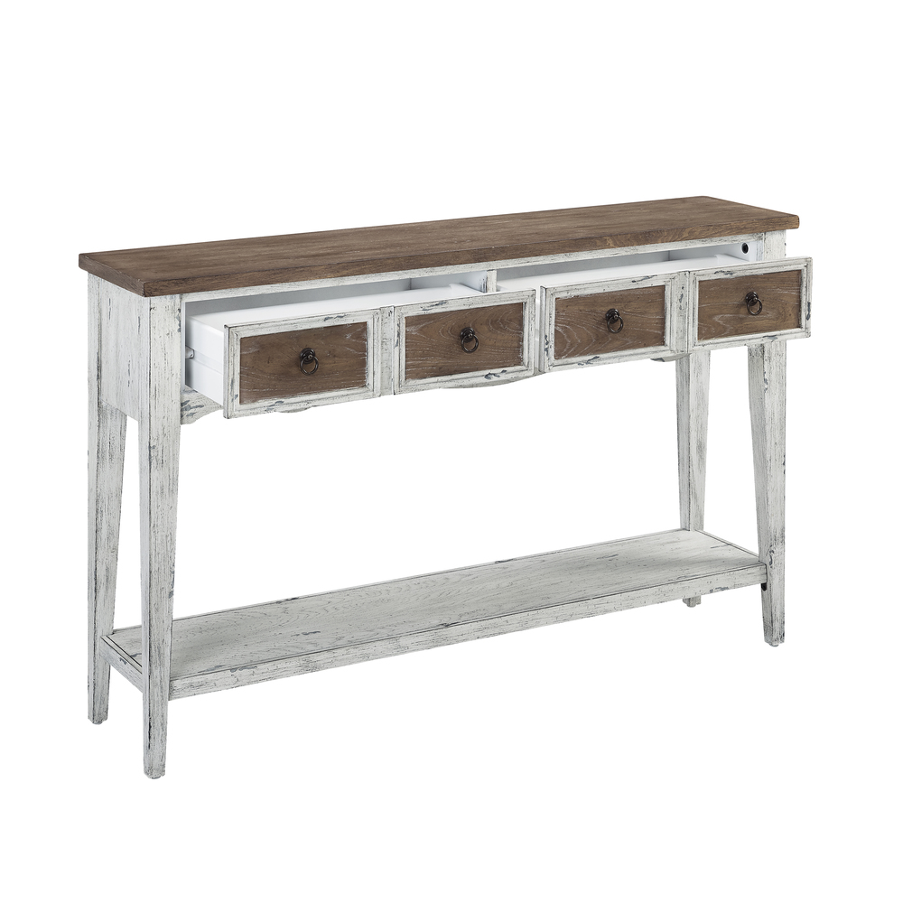 Accentrics Home - Two Tone Two Drawer Console Table