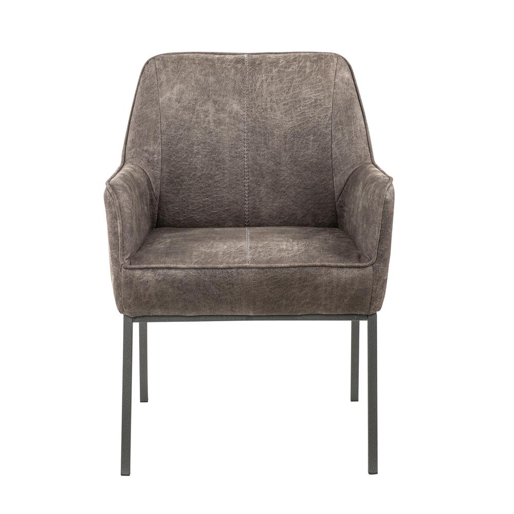 Accentrics Home - Gray Metal Leg Arm Chair