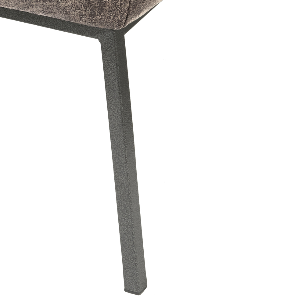 Accentrics Home - Gray Metal Leg Arm Chair