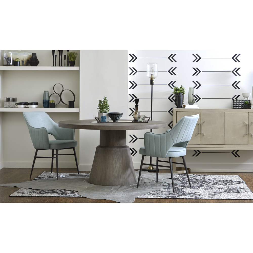 Accentrics Home - Light Blue Channel Back Dining Chair