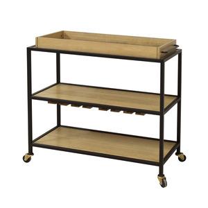 Thumbnail of Accentrics Home - Light Oak and Iron Bar Cart