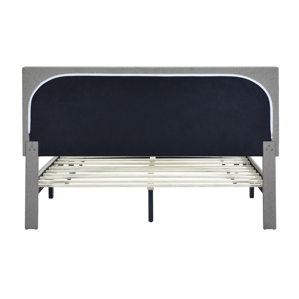 Accentrics Home - Queen Mid-Century Button Platform Bed