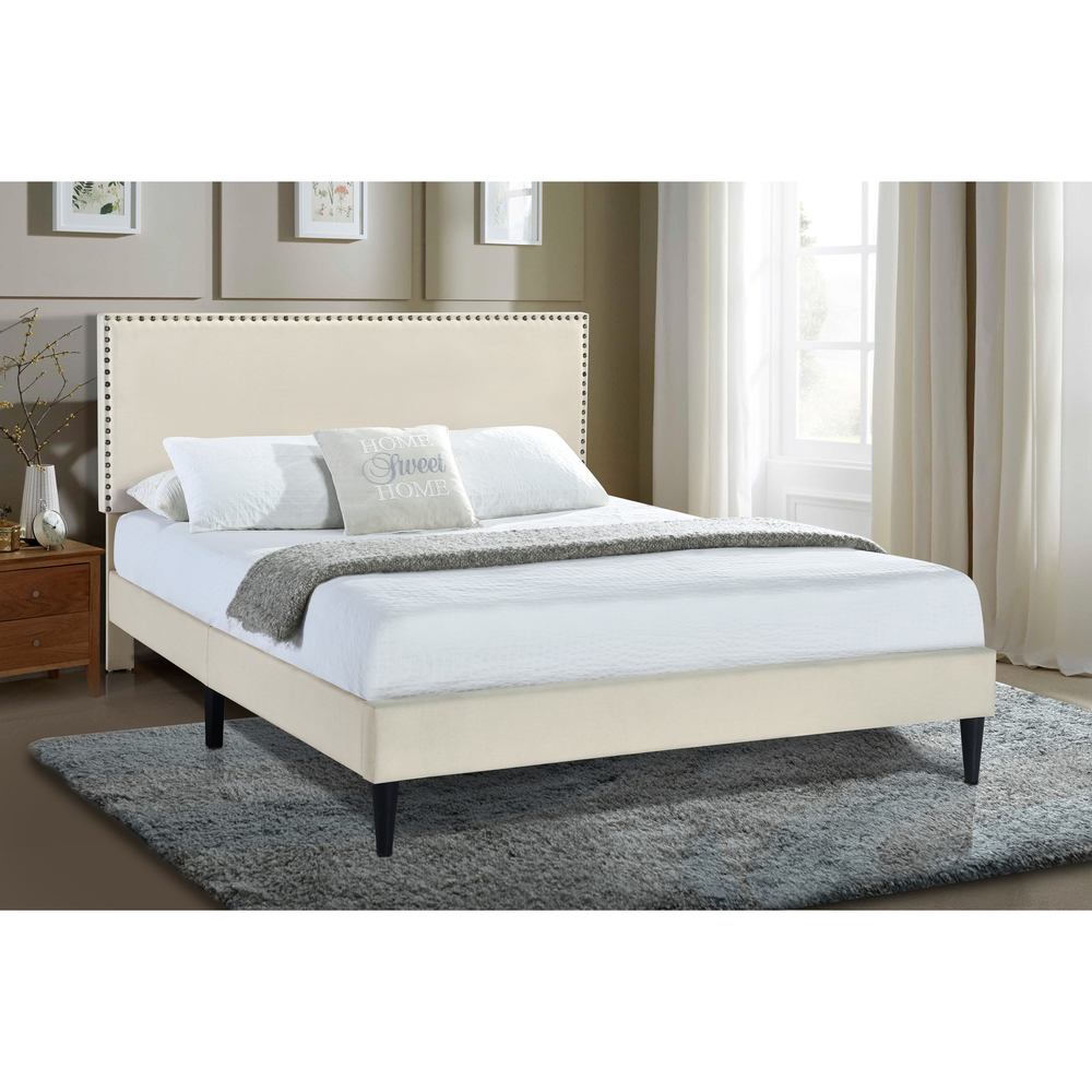 Accentrics Home - Queen Nail Trim Platform Bed