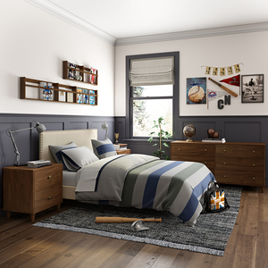 Thumbnail of Accentrics Home - Queen Nail Trim Platform Bed