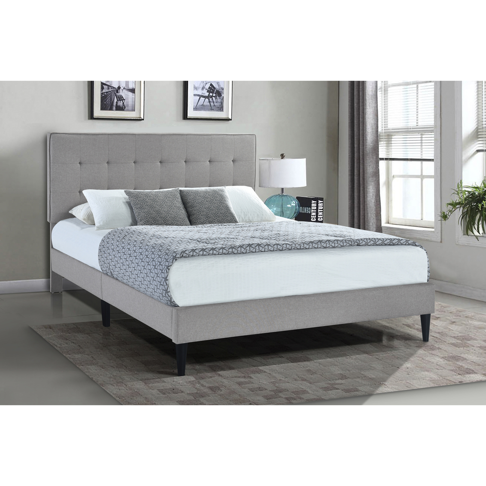 Accentrics Home - Queen Grid Tufted Platform Bed