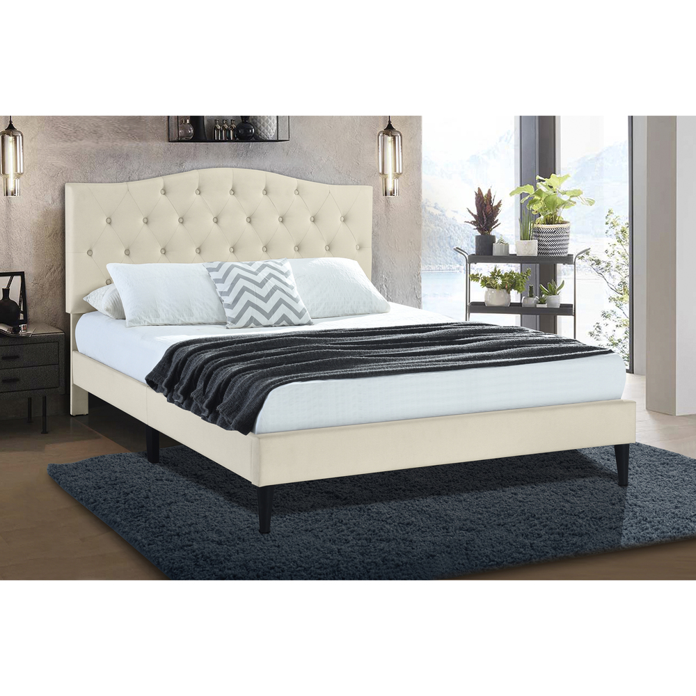 Accentrics Home - Queen Diamond Tufted Platform Bed