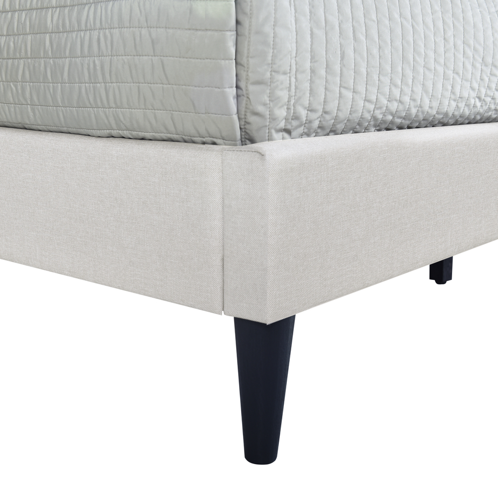 Accentrics Home - Queen Shaped Nail Trim Platform Bed
